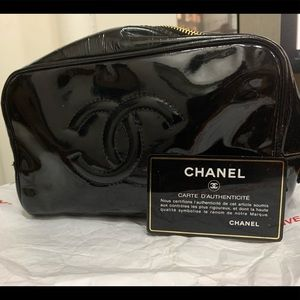 Authentic Chanel cosmetic pouch
